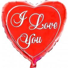 """Фольгированный шар """" сердце I Love You классик """"XXL размер"""