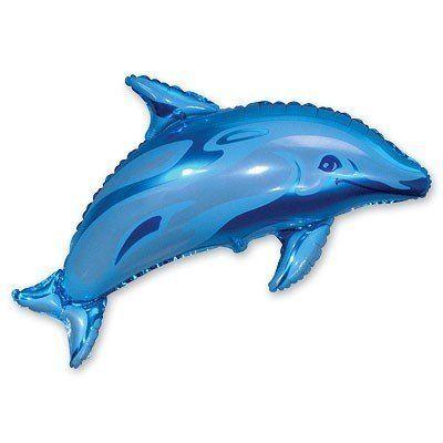 """Фольгированный шар фигура """" Дельфин """""""