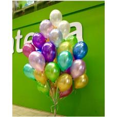 Купить Гелиевые Шарики Металлик Просто - Разноцветные 37см