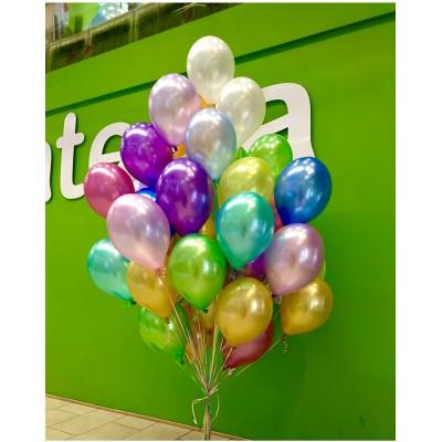 Купить Гелиевые Шарики Металлик Просто - Разноцветные 35-37см